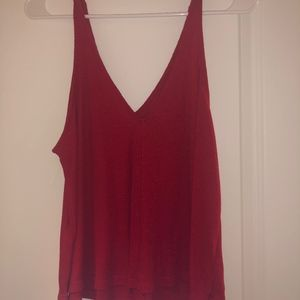 Red Free People - Dani V-Neck Tank Top
